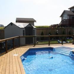 72 pool with wood decking