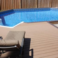100 Onground pool with decking surrounding