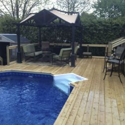 68 Wood Decking surrounding pool
