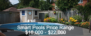 1/3 less cost than in-ground pool, back yard pool cost
