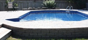 Pool acts as retaining wall