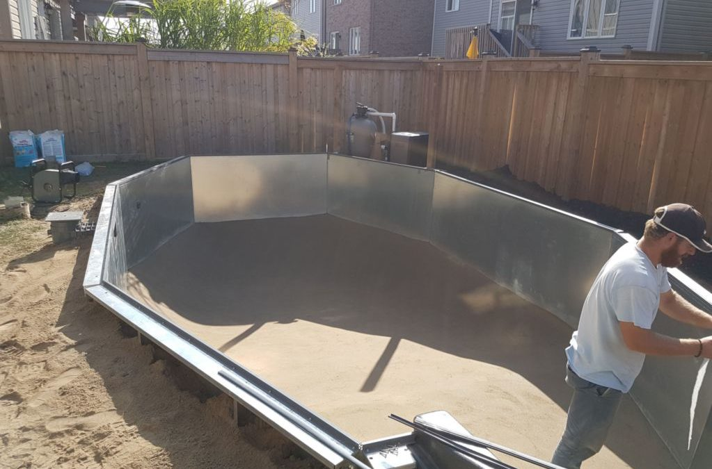 pool installation process
